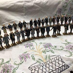 Vintage 1960's Marx Toy US President Figurines  Set 36