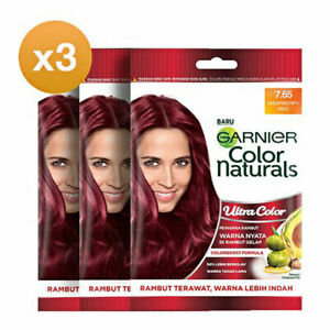 3 X 200gr GARNIER Hair Color Naturals DIY Dye Glow In The Dark Raspberry Red