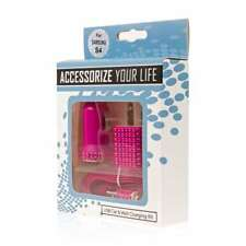 Micro USB 3-in-1 Hot Pink Bling Car and Wall Charger Adapter + USB Cable