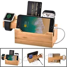 Multi-port USB Charging Dock Station Holder Stand for iPhone X 8 iWatch Airpods