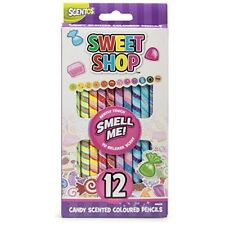 Scentos Touch Activated Sweet Shop Scented Stationery Colouring Pencils - Pack o