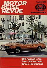Motor Reise Revue 10 1976 BMW 633 CSi Test Matra Bagheera Simca 1000 Corolla