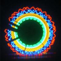 32 LED Bicycle Bike Cycling Rim Wheel Lights On Off Flash Spoke Light String