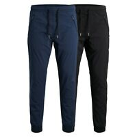Jack & Jones Mens Cuffed Joggers Elasticated Waist Casual Gym Sports Trousers