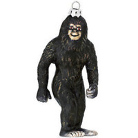 Bigfoot Christmas Tree Ornament Glass Xmas Funny Holiday Sasquatch Yeti