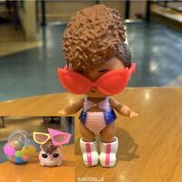 2pcs LOL Surprise Confetti Riptide Doll & HAMMY TIDE Pet Toy Gift