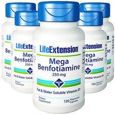 Mega Benfotiamine 250mg Life Extension 5X120 caps