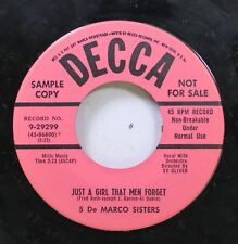 50'S & 60'S 45 5 De Marco Sisters - Just A Girl That Men Forget / Love Me On Cca