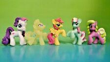 "5 G4 My Little Pony MLP Brushable 1"" Inch Rare Horse Bundle Mini Ponies Unicorn"