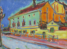 PAINTING KIRCHNER HOUSES IN DRESDEN LARGE POSTER WALL ART PRINT LF3018