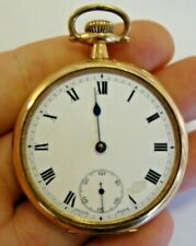 Antique gold plated pocket watch SWISS MADE