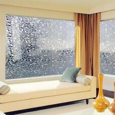 Removable Cobblestone Shaped Glass Sticker Bathroom Slide Door Window 100cm US