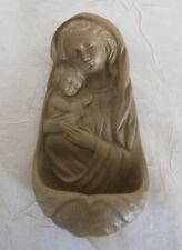 Weihwasserkessel Madonna ca. 13,5 cm hoch, Polystone Weihwasserbecken JN-02