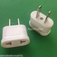 AU Aust to US USA AC Power Travel Plug 10 Amp Adapter Converter 1pc White Mini