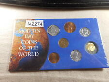 Seven Piece Set Modern Coins of the World Sealed Original Package - #  142274