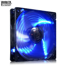 PcCooler X6 12CM 120MM BLUE LED 4 PIN PWM 1800 RPM PC Case Fan with Wire Clips