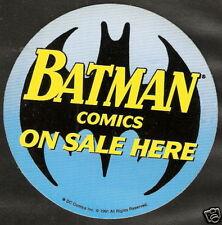 BATMAN COMICS On Sale Here DC Promotional Sales Sticker 1991 UNUSED NM Scarce
