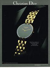 PUBLICITE ADVERTISING  1990   DIOR  collection montres