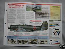 Aircraft of the World Card 54 , Group 13 - Kawanishi N1K-J Shiden 'George'