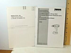 Makita Cordless Hammer Driver Drill Instruction Manual XPH01/XPH02