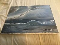 Stormy Weather Seascape acrylic painting on canvas