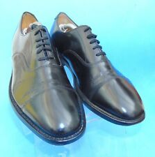Loake Business Mens Black Real Leather Lace-Up Shoes UK 8.5 Made In England 200B