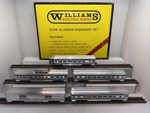 "Williams No. 2601 Pennsylvania PRR 5-Car 15"" Aluminum Passenger set Used O Gauge"