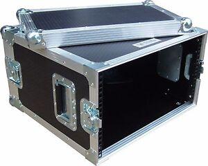 """6U 2 Door 19"""" Rack """"Short Version 300mm"""" Swan Flight Case (Hex)"""