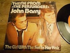 """JOHN BARRY """"THEME FROM THE PERSUADERS / THE GIRL WITH THE SUN IN HER HAIR"""" 1972"""