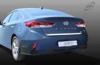 Rear Trunk Cover Chrome Garnish Molding Silver D-071 for Hyundai Sonata 2018~19