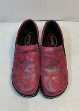 Klogs pink slip on clogs shoes size 7