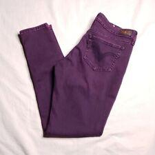 LEVIS 535 Size 11 Leggings Skinny Jeans Purple Mid Rise Irregular Womens Juniors