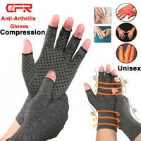 Arthritis Gloves Fingerless Medical Support Carpal Tunnel Copper Compression Fit
