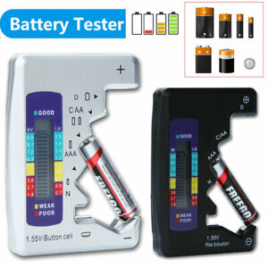 Universal LCD Digital Battery Tester Checker C D N AA AAA 9V 1.5V Button Cell