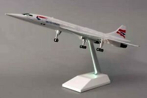 British Concorde with LED Cabin Lights Large Display Plane Model  Airplane 50cm