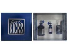 CURVE KICKS for Men 4.2 oz Cologne Spray +0.50 Oz Cologne Spray+2.6 Oz Deo Stick