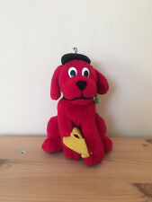 Clifford The Big Red Dog Artist With Hat Soft Toy Plush 18cm