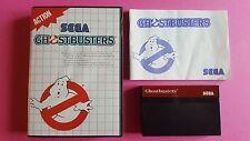 GHOSTBUSTERS / jeu en boite + notice MASTER SYSTEM SEGA / PAL