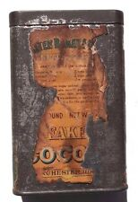 Vintage Walter Baker & Co. Ltd. Breakfast Cocoa Embossed Metal Tin