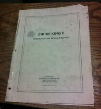 Coin-it/Monroe Distributing Inc. BIRDIE-KING 2 Arcade Video Game Manual- used