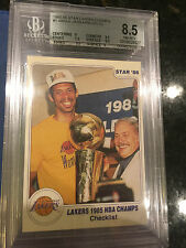 Card #1 Checklist Kareem 1985-86 Star Lakers Champs BGS 8.5 NM-MT +