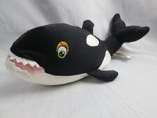 DANDEE LIFELIKE REALISTIC ORCA KILLER WHALE PLUSH STUFFED MICROBEADS PILLOW TOY