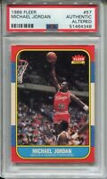 1986 Fleer Basketball #57 Michael Jordan Rookie Card RC Graded PSA Authentic '86