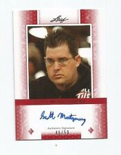 SCOTT MONTGOMERY 2011 LEAF POKER RED AUTO AUTOGRAPH /50