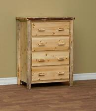 Amish made white cedar log furniture RUSTIC 4 DRAWER CHEST **FREE SHIPPING**