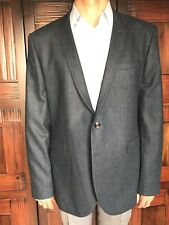 Ted Baker London Mens Size 7 Navy Herringbone Blazer New $595