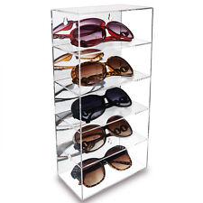 Acrylic 5-Shelves Mirror Backed Collection Case Eyewear Display