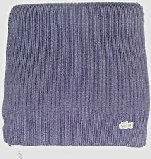 New Lacoste Green Croc Warm Wool Scarf, NAVY BLUE, 100% Wool, MSRP $95, RE4212