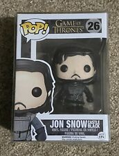 Funko Pop! Jon Snow Castle Black #26 WITH FREE HIGH QUALITY PROTECTOR & P&P RARE