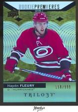2017-18 Upper Deck Trilogy #54 Haydn Fleury ROOKIE 198/999 HURRICANES RC